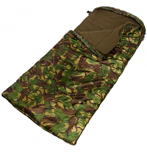 NGT XPR Sleeping Bag - Camo 5 Season with Thermal Fleece Lining, Hood, 190T Fabric and Case Schlafsack NGT Angelliegen & Ange...