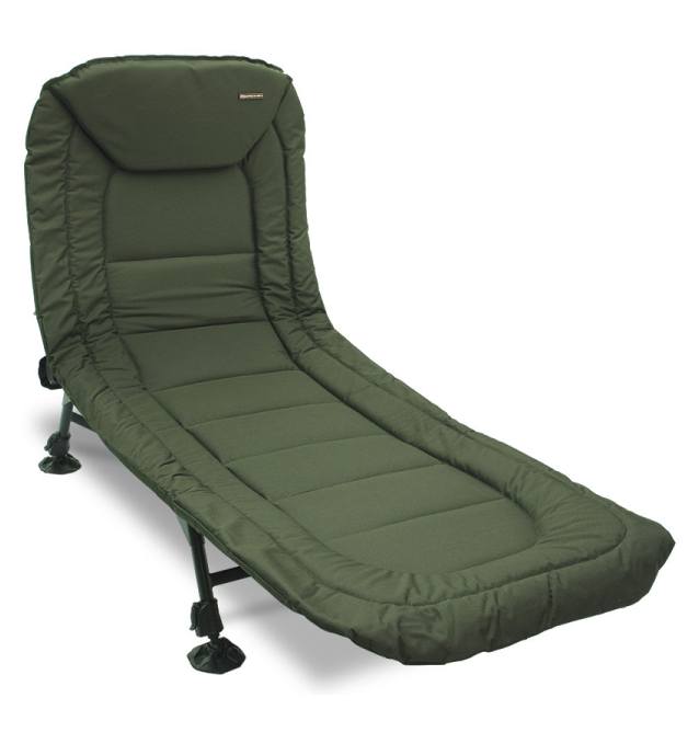 NGT Specimen Bed - 6 Leg Bedchair with Recliner and Pillow NGT Angelliegen & Angelstühle