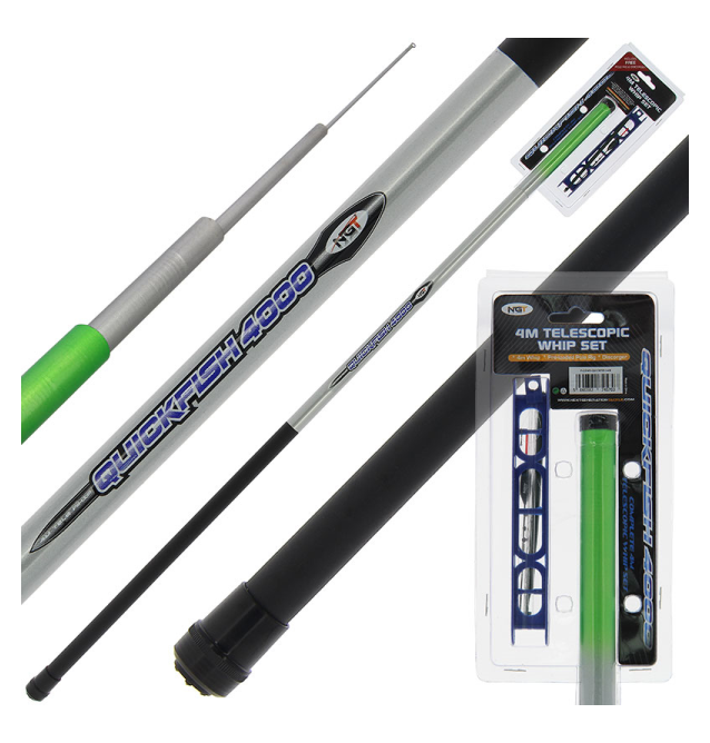 NGT 4m 'Quickfish' Telescopic Whip with Pole Rig and Disgorger NGT Ruten