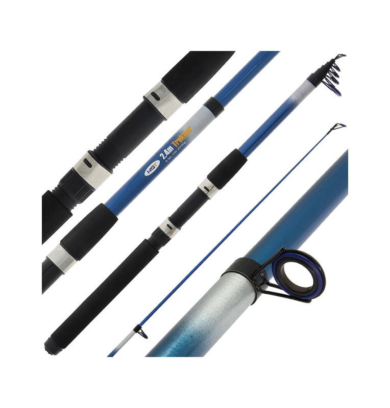 NGT AP Trekker Telescopic - 8ft (2.4m) Telescopic Fishing Rod (Glass) Angling Persuits Teleskopruten