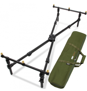 NGT Cross Pod - 3 Rod 'Cross Style' Pod with Case NGT Rod Pod´s, Banksticks & Buzzerbars