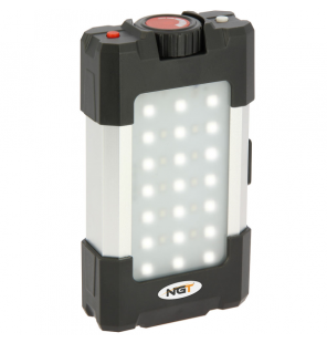 NGT 21 LED Light - 500 Lumen with USB Rechargable 10400mAh Battery and Powerbank NGT Beleuchtung