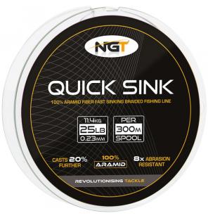 NGT 300m 25lb 'Quick Sink' Moss Green Braid NGT Schnüre