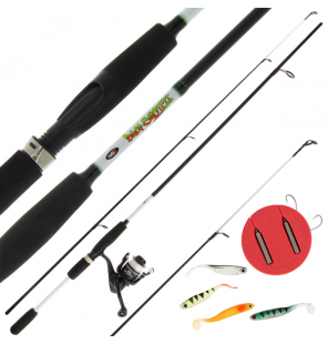 NGT Drop Shot Combo - 7ft, 2pc Rod, Reel and Accessory Set (Carbon) NGT Spinnruten