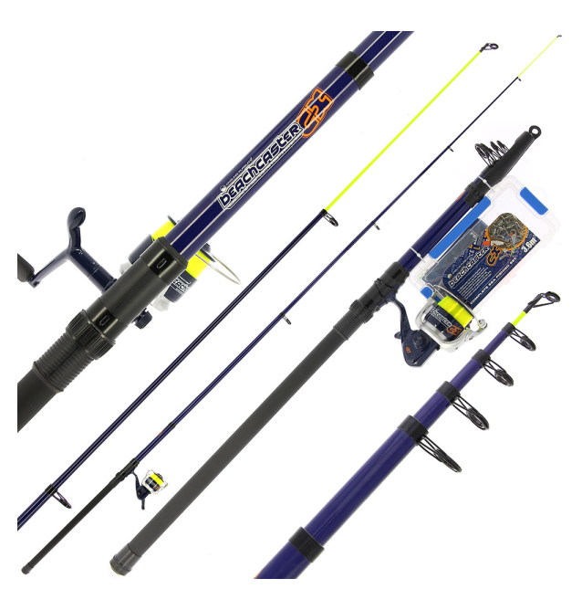 NGT Angling Pursuits Telescopic Beachcaster Combo - Telescopic Rod, Reel and Accessory Set Angling Persuits Teleskopruten