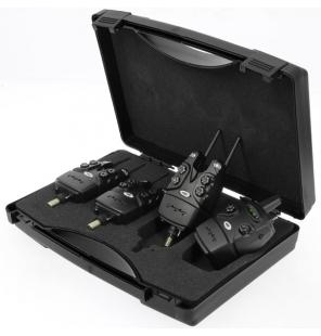 NGT 3pc + Receiver 'Dynamic' Bitealarm Set 150m Range Bissanzeiger NGT Bissanzeiger & Bobbins