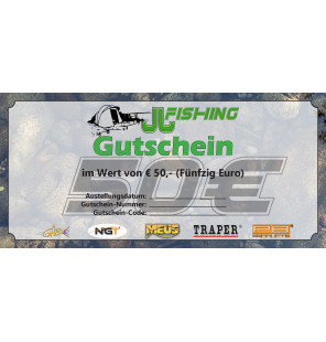 50€ JJ-Fishing Gutschein JJ-Fishing Gutscheine