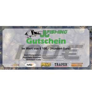 100€ JJ-fishing Gutschein JJ-Fishing Gutscheine