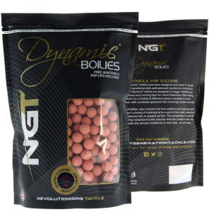 NGT Dynamic Pink Washed Out Krill Boilies 15mm NGT Boilies