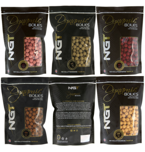 NGT Dynamic Mega Mix Boilies 15mm 10x NGT Boilies