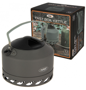 NGT Fast Burn Kettle -1.1L Gun Metal NGT Outdoor Cooking