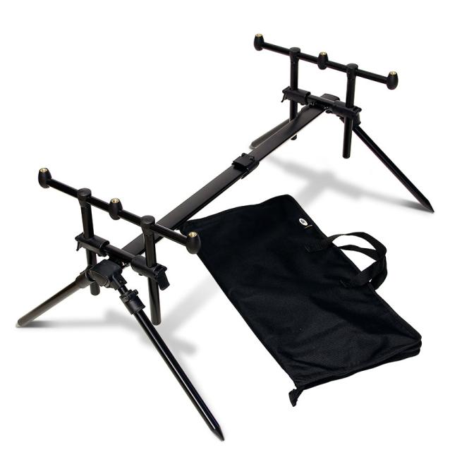 NGT Quickfish Rod Pod - Fully adjustable 3 Rod Pod with case NGT Rod Pod´s, Banksticks & Buzzerbars