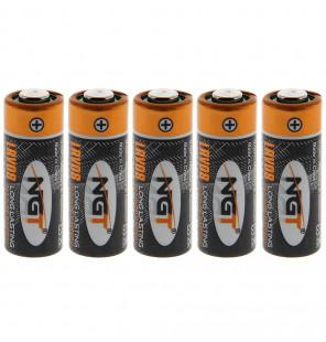 NGT Card of 5 x Single Cell LRV08 (12V) Alkaline Battery NGT Bissanzeiger & Bobbins