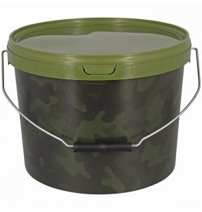 NGT 10 Litre Round NGT Camo Bucket NGT Endtackle