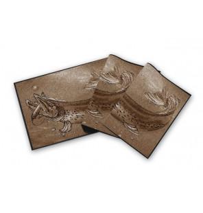 Bivvy Mat Pike - Hecht Fußmatte | 60x40cm  Schirme & Zelte