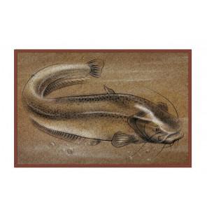 Bivvy Mat Catfish - Wels Fußmatte | 60x40cm  Bivvy Mat - Fußmatten