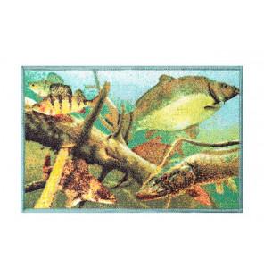 Bivvy Mat Aqua - Aqua Fußmatte | 60x40cm Delphin Bivvy Mat - Fußmatten