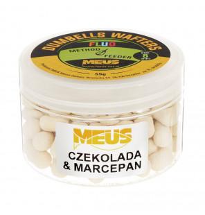 Meus Method Feeder Dumbells Fluo Wafters 55g 8mm – Schokolade & Marzipan Meus Method Feeder