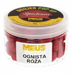 Meus Spectrum Pop Up Boilies 15mm Feuer Rose Köder Meus Pop Up´s