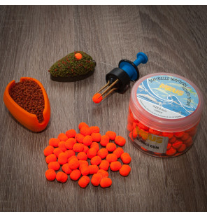 Meus Method Feeder Fluo Wafter 8mm Dumbel Spicy Sausage Meus M.F. Wafter