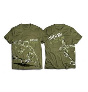 """Delphin T-Shirt """"Catch Me"""" - Green mit Karpfen Delphin Hoodie, Shirts, Jacken & Co"""