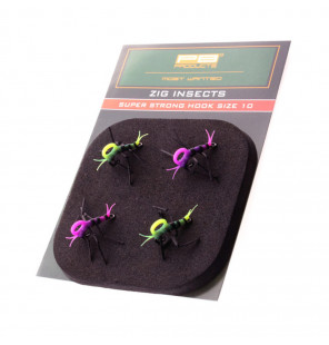 PB Products Super Strong Zig Insects Gelb/Pink 4pcs Hakengröße 10 PB Products Diverses