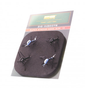 PB Products Super Strong Zig Insects Weiß/Schwarz 4pcs Hakengröße 10 PB Products Diverses