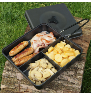 NGT 3-Way Compact Multi Section Frying Pan Pfanne NGT Outdoor Cooking
