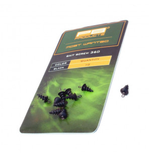 PB Products Bait Screw 360 - Black 10pcs PB Products Vorfachmaterial