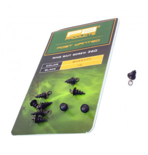 PB Products Ring Bait Screw 360 - Black 10pcs PB Products Vorfachmaterial