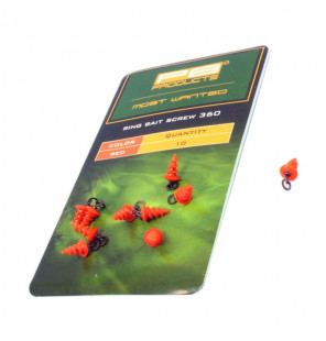 PB Products Ring Bait Screw 360 - Red 10pcs PB Products Vorfachmaterial