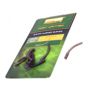 PB Products X-Stiff Aligner Curved - Silt 8pcs PB Products Vorfachmaterial & Montage-Zubehör