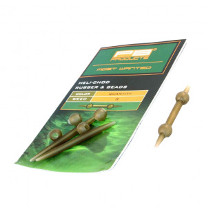 PB Products Heli-Chod Rubber & Beads - Weed 3pcs PB Products Vorfachmaterial