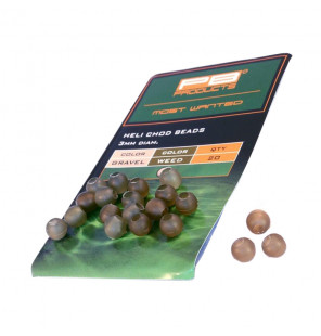PB Products Heli-Chod Beads - Gravel/Weed 20pcs PB Products Stopper & Baitscrews