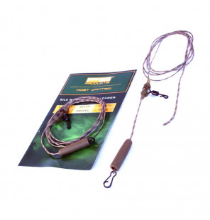 PB Products Silk Ray Heli-Chod Leader - Gravel 90cm 2pcs PB Products Vorfachmaterial