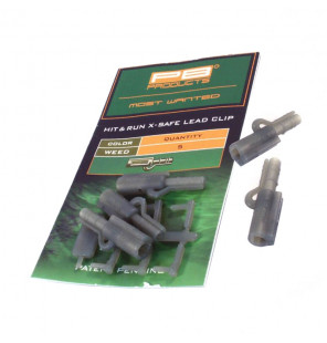 PB Products Hit & Run X-Safe Leadclip - Weed 5pcs PB Products Vorfachmaterial