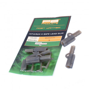 PB Products Hit & Run X-Safe Leadclip - Gravel 5pcs PB Products Vorfachmaterial & Montage-Zubehör