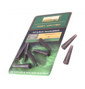 PB Products Hit & Run Tailrubber - Silt 8pcs PB Products Vorfachmaterial & Montage-Zubehör