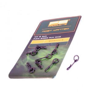 PB Products Hit & Run Flexi Speed Run Ring - 8 Stück PB Products Swivels