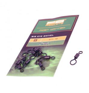 PB Products Big Eye Swivel - Größe 8, 10 Stück PB Products Swivels