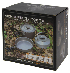 NGT 3 Piece Cookset NGT Outdoor Cooking