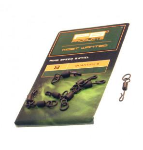 PB Products Ring Speed Swivel - Größe 8, 8 Stück PB Products Swivels
