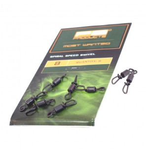 PB Products Spiral Speed Swivel - Größe 8, 8 Stück PB Products Swivels