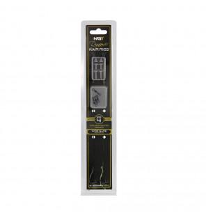 NGT Dynamic Hair Rigs - 2 Stück, Größe 4, Micro Barbed NGT Vorfächer