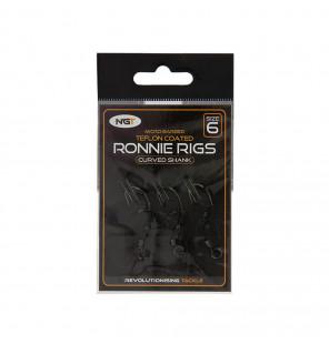 NGT Ronnie Rigs - 3 Stück, Größe 6, Micro-Barbed NGT Vorfächer