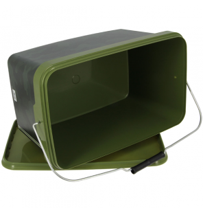 NGT 12.5 Litre Square NGT Camo Bucket with Metal Handle NGT Diverses
