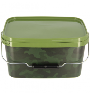 NGT 5 Litre Square NGT Camo Bucket with Metal Handle NGT Diverses