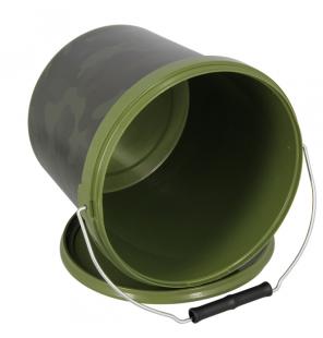 NGT 5 Litre Round NGT Camo Bucket with Metal Handle NGT Diverses
