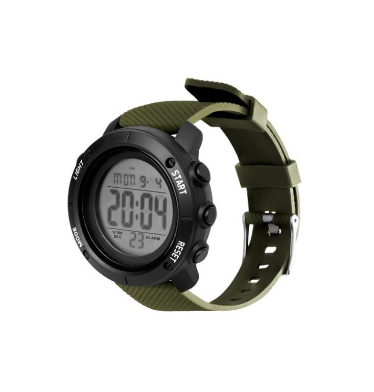 Delphin Digital Watch WADER – Oliv / Schwarz Angler Uhr Delphin Masken, Handschuhe & Co
