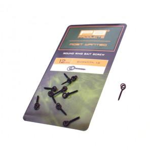 PB Products Round Ring Bait Screw - Länge: 12mm, 10 Stück PB Products Stopper & Baitscrews